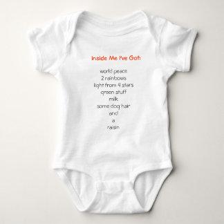 Dentro de mí tengo: body para bebé