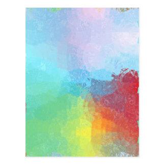Dentro de un arco iris tarjetas postales