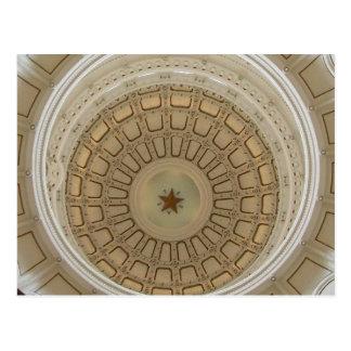 Dentro del de la Rotonda en el capitolio de Tejas Postal
