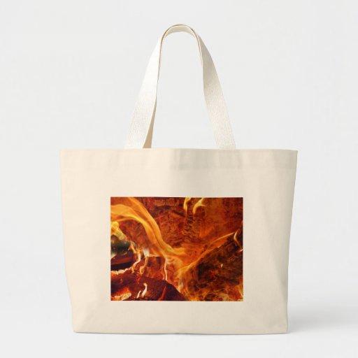 Dentro del fuego bolsa tela grande