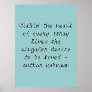 Dentro del poster del corazón…