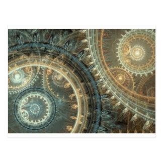Dentro del reloj tarjetas postales