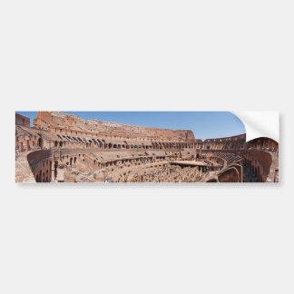 Dentro del retrato panorámico de Roma Colosseum Pegatina De Parachoque
