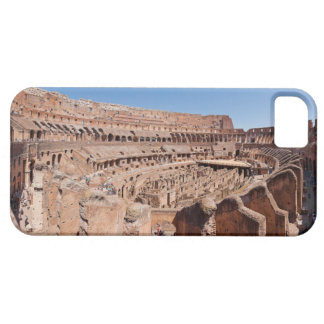 Dentro del retrato panorámico de Roma Colosseum iPhone 5 Fundas