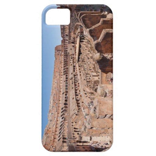 Dentro del retrato panorámico de Roma Colosseum iPhone 5 Carcasa
