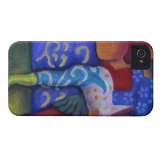 Dentro y hacia fuera - paso azul y carmesí Case-Mate iPhone 4 cárcasas