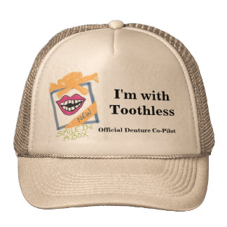 """Denture Co-Pilot"" Hat"
