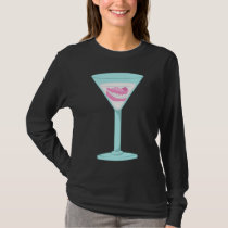 Dentures False Teeth Martini T-Shirt