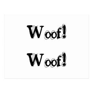 Denuncia del descortezamiento del perro tarjeta postal