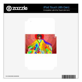 Denuncia y discusión, pintura de aceite digital calcomanía para iPod touch 4G