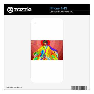 Denuncia y discusión, pintura de aceite digital iPhone 4S calcomanía