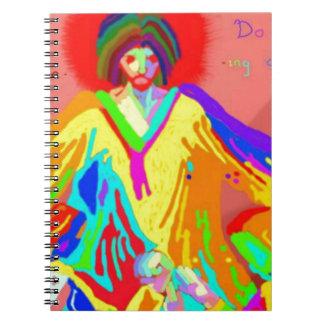 Denuncia y discusión, pintura de aceite digital spiral notebook