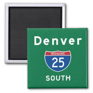 Denver 25 imán cuadrado