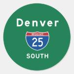 Denver 25 pegatina redonda