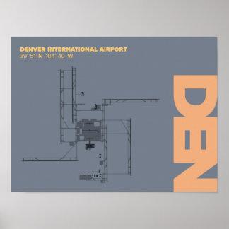 Denver Airport (DEN) Diagram Poster