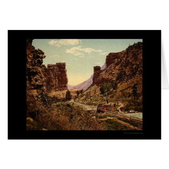 Denver and Rio Grande Railroad Track in Utah 1900 Card