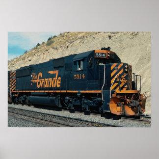 Denver and Rio Grande Western, EMD SD-50 Poster