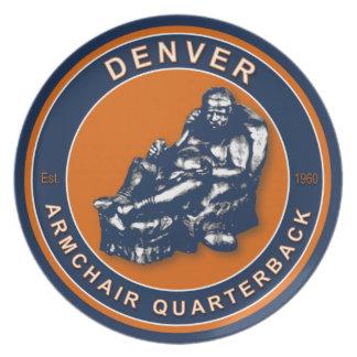 Denver Armchair Quarterback Plate