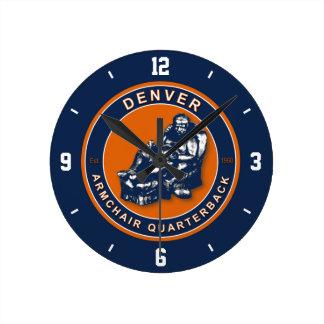 Denver Armchair Quarterback Wall Clock