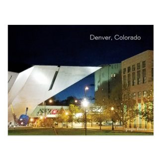 Denver Art Museum, New And Old Postcard
