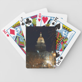 Denver At Night 1 Bicycle Playing Cards