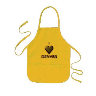 Denver -- Azul con resplandor Delantal Infantil
