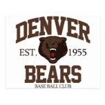 Denver Bears Postcards