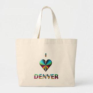 Denver -- Blue Green & Burgundy Canvas Bags