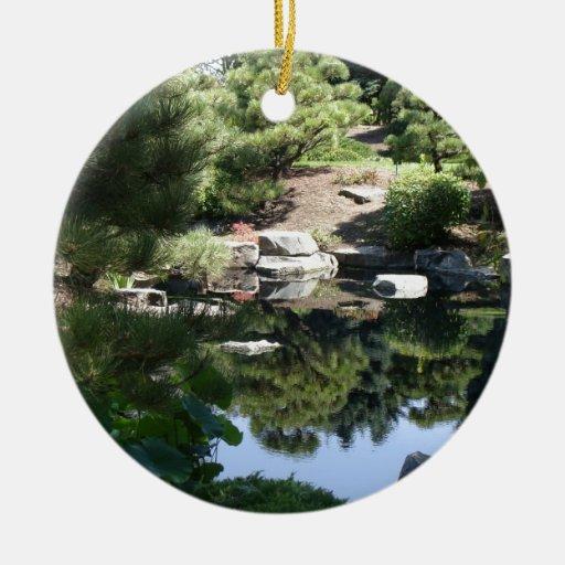 Denver botanic japanese garden reflections ceramic for Japanese pond ornaments