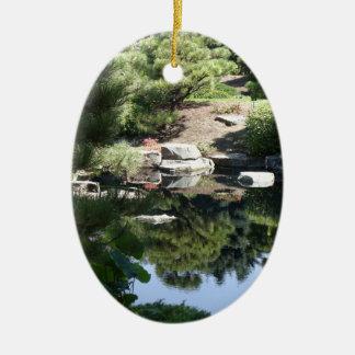 Denver Botanic Japanese Garden Reflections Ceramic Ornament