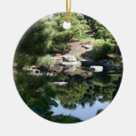 Denver Botanic Japanese Garden Reflections Double-Sided Ceramic Round Christmas Ornament