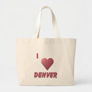 Denver -- Burgundy Tote Bag