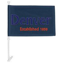 Denver Car Flag