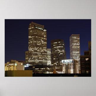 Denver céntrica en la noche impresiones