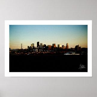 Denver céntrica [impresión] poster