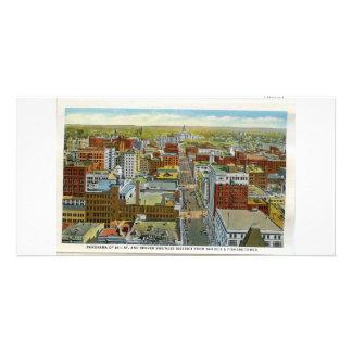 Denver céntrica, tarjeta teñida mano de los años 3 tarjetas personales
