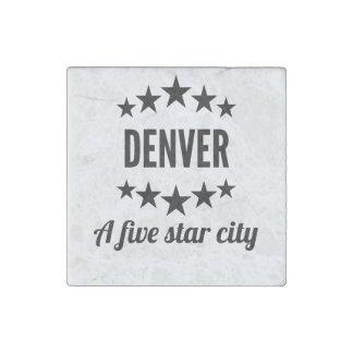 Denver cinco Star City Imán De Piedra