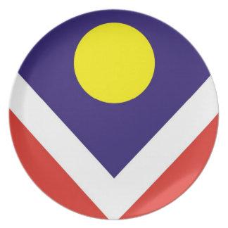 denver city flag plate
