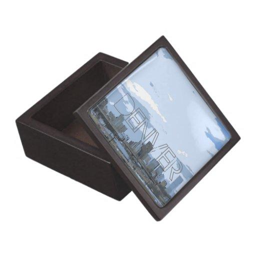 Denver city landscape scene keepsake gift box premium gift box
