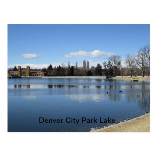 Denver News Echo Lake: Denver City Park Lake Postcard