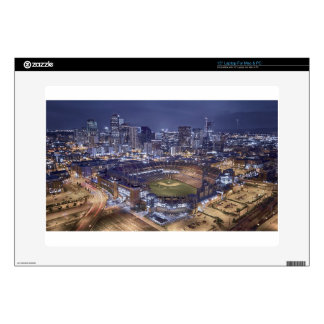 """Denver City Skyline and Coors Field at Night Decals For 15"""" Laptops"""