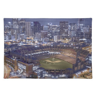 Denver City Skyline and Coors Field at Night Placemat