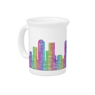 Denver city skyline beverage pitcher