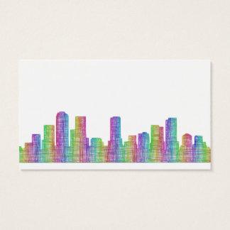 Denver city skyline business card