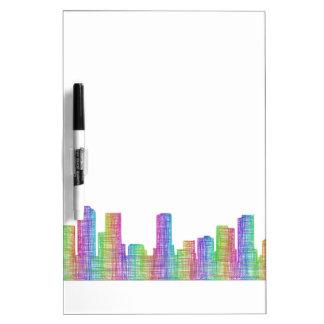 Denver city skyline dry erase board