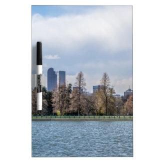 denver city skyline in colorado dry erase board