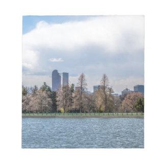 denver city skyline in colorado note pads