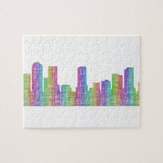 Denver city skyline jigsaw puzzle