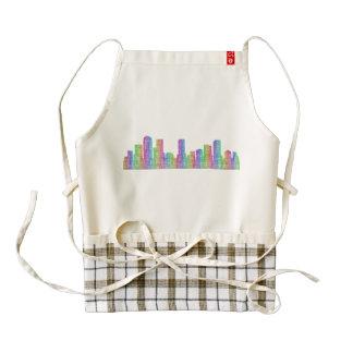 Denver city skyline zazzle HEART apron