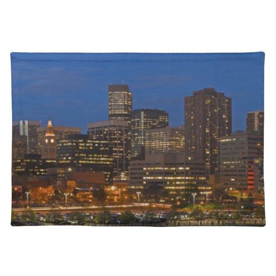 Denver Cityscape Cloth Placemat